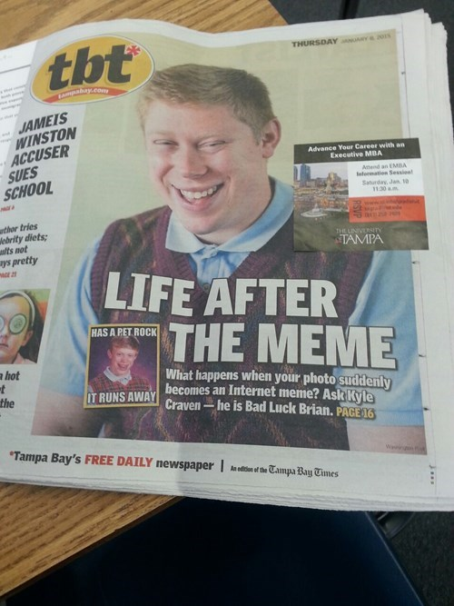 bad luck brian - 8438448128