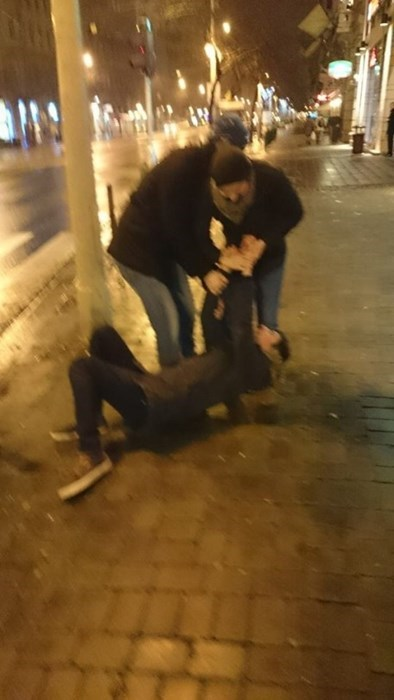 guy falling down drunk
