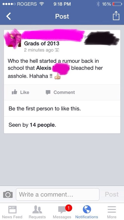 school rumors facebook - 8438569728