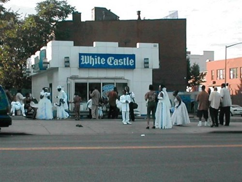 wedding reception at white castle