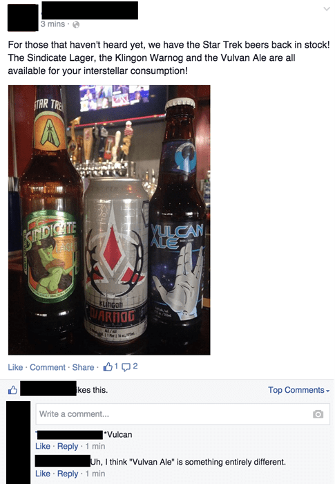 beer FAIL typo Vulcan Star Trek - 8438586624