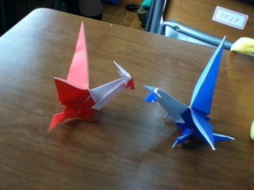 arts and crafts,Pokémon,latias,origami,latios