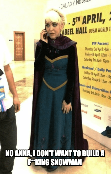 elsa cell phone cosplay