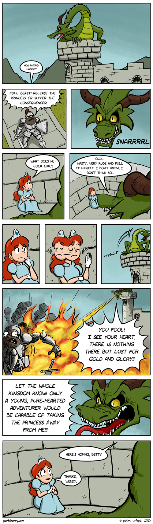 dragon,princess,fire,web comics
