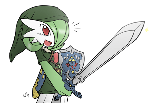 crossover Pokémon the legend of zelda gardevoir - 8438721024