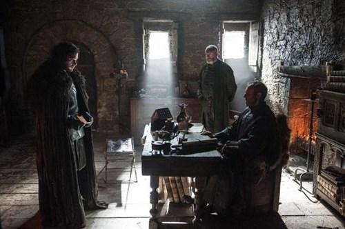 Jon Snow Stannis Baratheon and Davos Seaworth season 5