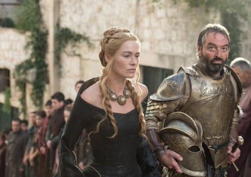 Cersei Lannister and Meryn Trant season 5