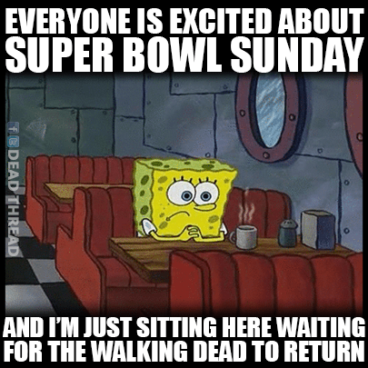 super bowl SpongeBob SquarePants The Walking Dead - 8438740992