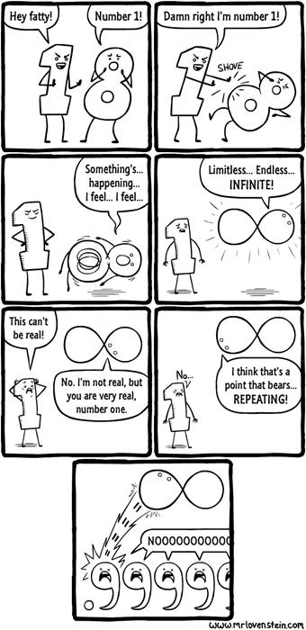 infinity is a jerk