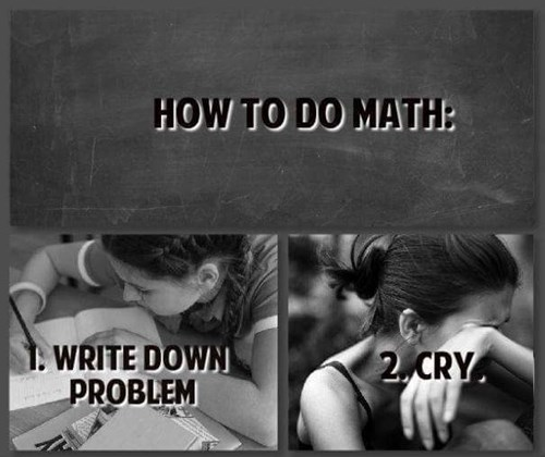 how to do math, cry
