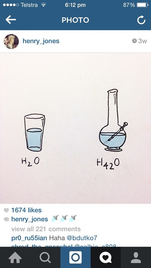 h2o bong water drugs science weed funny - 8439616000