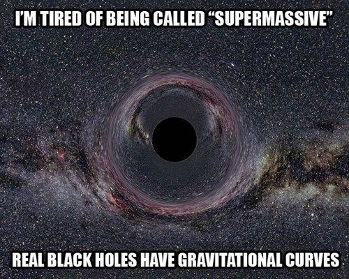 black holes have curves