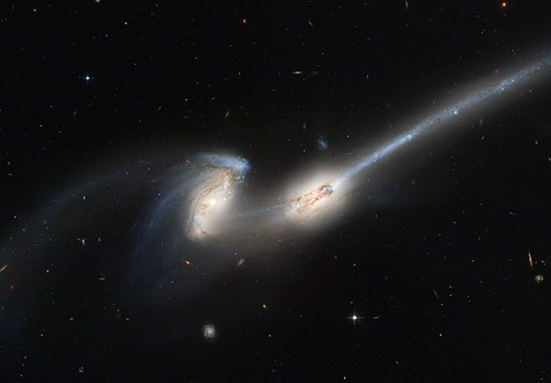 the mice galaxies colliding