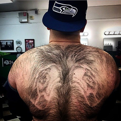 hair seattle seahawks nfl hairy back football - 8439646720