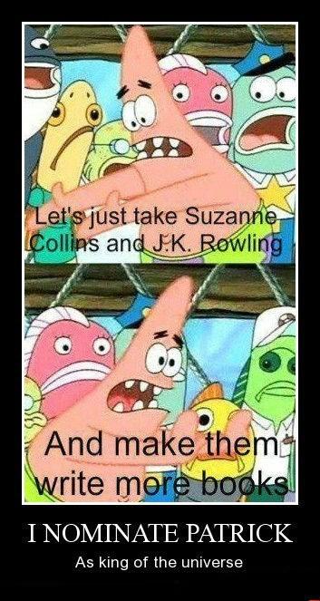jk rowling Sponge Bob Squarepants patrick funny - 8439862528