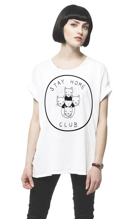 poorly dressed t shirts Cats - 8440085760