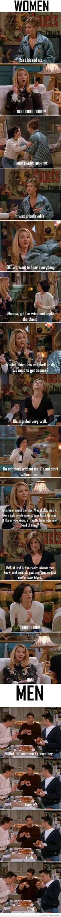 friends nails the difference between women and men