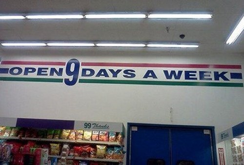monday thru friday,FAIL,grocery store,g rated