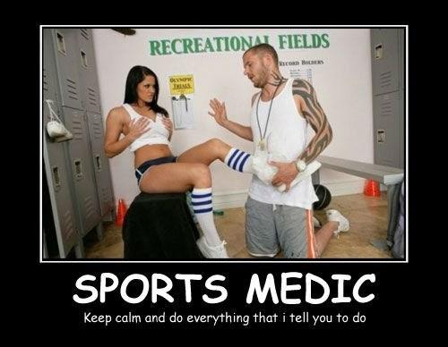 Sexy Ladies doctor sports medicine funny - 8440231168