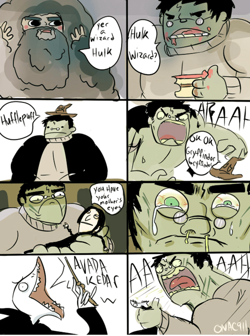 Harry Potter,hulk,web comics