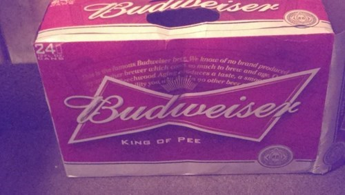 budweiser is the king of pee