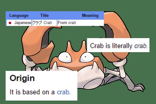 secrets, pokemon, krabby,