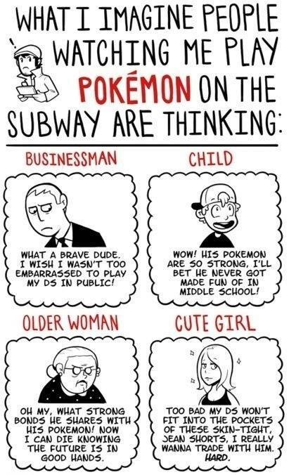 pokemon, web comic, subway,