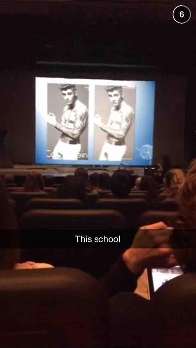 justin bieber studied in class
