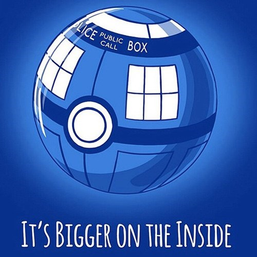 funny doctor who pokeball tardis mashup art