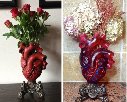 geeky merch anatomical heart vase for valentine's day