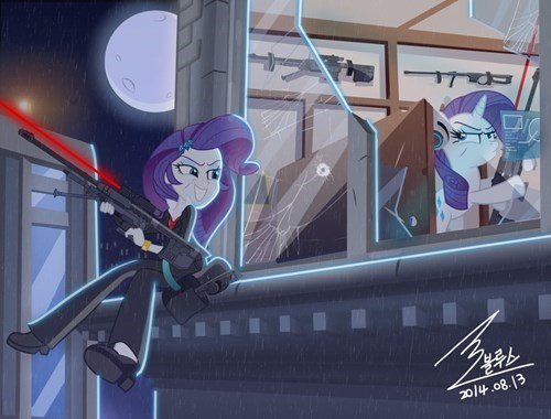my little pony rarity fights rarity art
