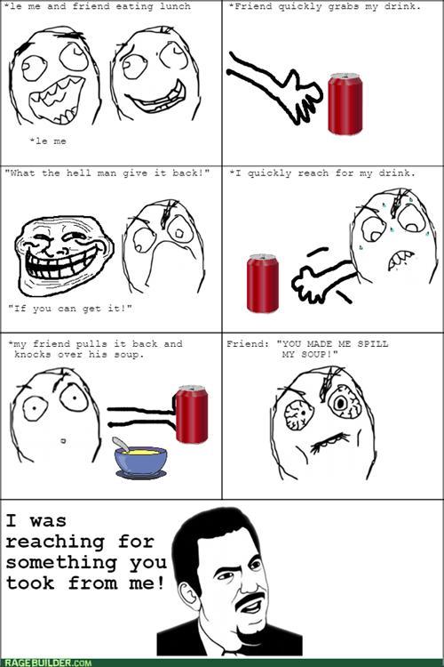 trollface,friends,lunch