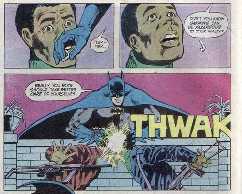 superheroes-batman-dc-no smoking comic