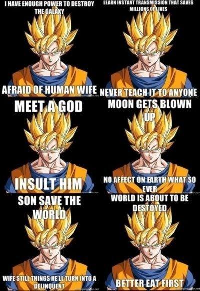 anime memes dragon ball z logic