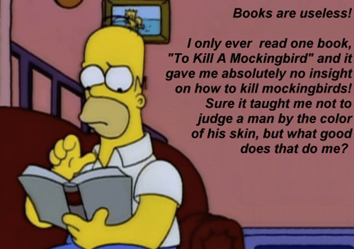 homer doesn't like books
