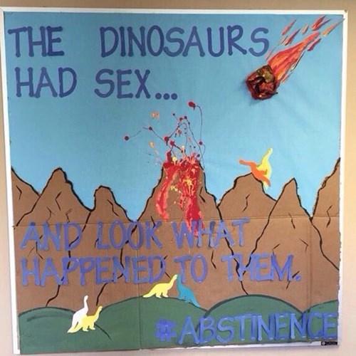 dinosaurs went extinct because they had sex