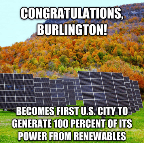 burlington is 100% green