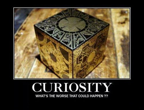 curiousity hellraiser cube funny - 8441027328