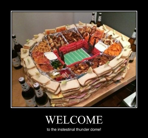 thunder dome,welcome,food,football,funny