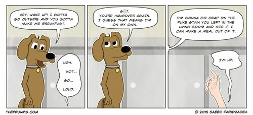 drinking dogs breakfast gross web comics - 8441186816