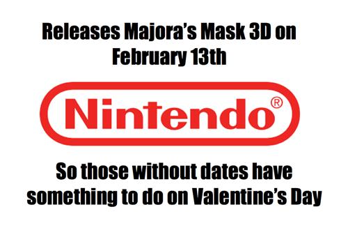 nintendo, valentine's day, majora's mask,