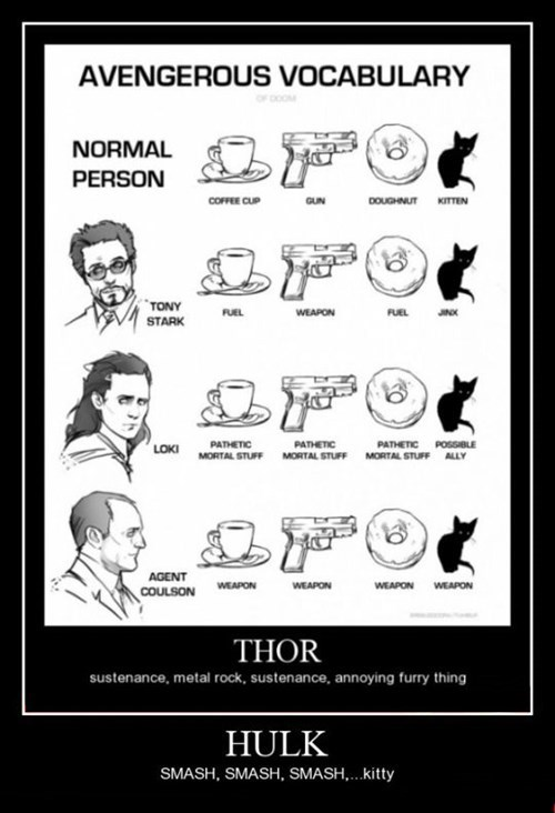 funny vocabulary avengers