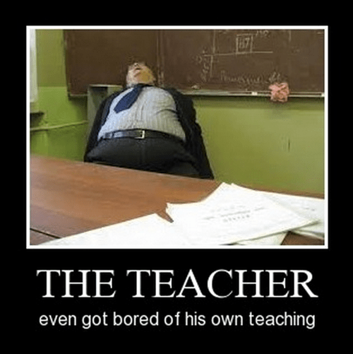 teacher boredom sleeping funny - 8441392128