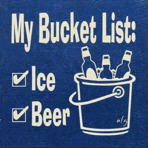 the best bucket is filled with beer