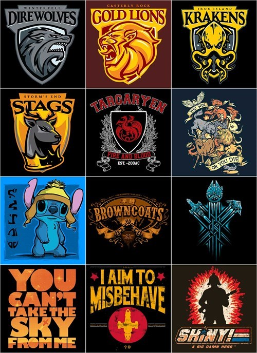 Game of Thrones,tshirts,Firefly