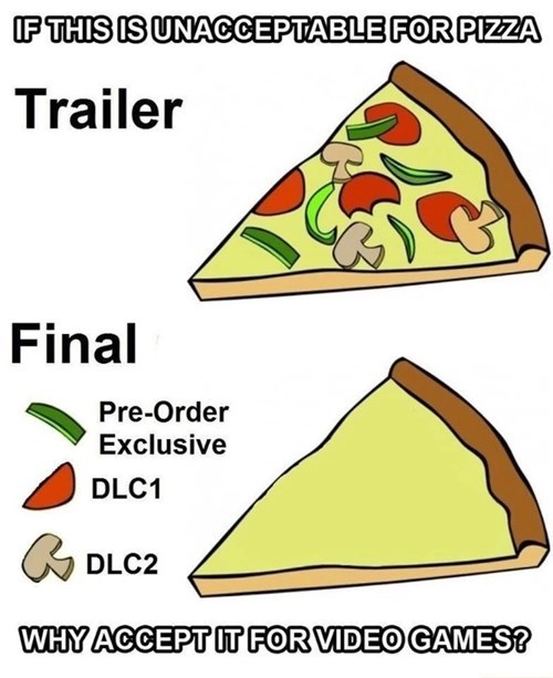 pizza,gaming,DLC,food,video games
