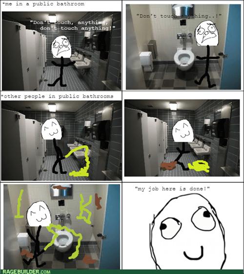 gross bathroom mess - 8441737984