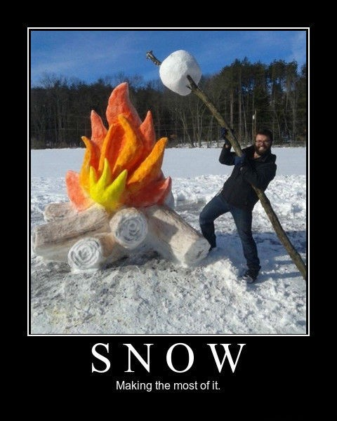 snow,fire,funny