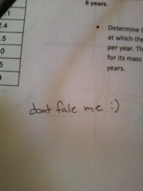 kid needs to learn how to spell fail