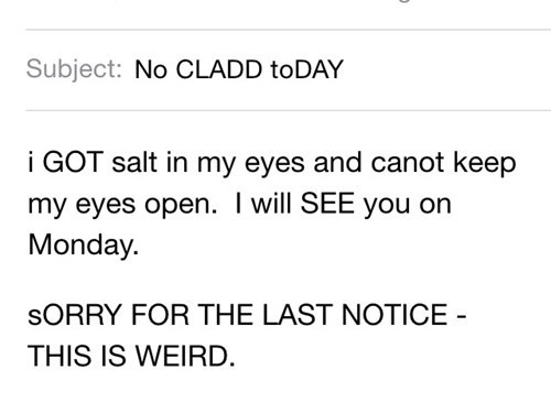 teacher got salt in their eyes and cancels class